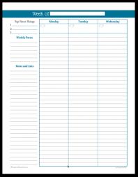 Weekly Planner Printables Personal Planner