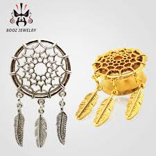 Dream Catcher Tunnels 100 fashion 100pcs dream catcher ear piercings tunnel plugs body 41