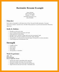Bartender Sample Resume Template Luxury Examples Bartender Resumes
