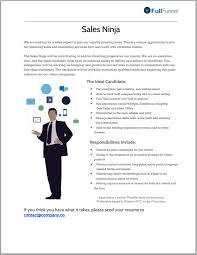 Job Posting Template Sales Posting Template