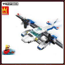 RẺ VÔ ĐỐI ] ĐỒ CHƠI TRẺ EM- Xếp hình Lego Máy bay Cảnh sát Chiến Đấu (3 in  1) giảm chỉ còn 155,000 đ
