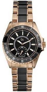 men s 47003l2 gc two tone quartz black dial watch guess men s 47003l2 gc two tone quartz black dial watch