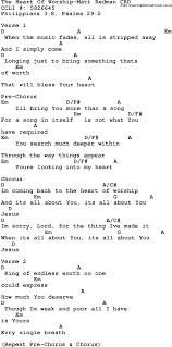 Heart Of Worship Chord Chart Gospel Song The Heart Of Worship Matt Redman Lyrics And