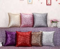 Small Picture 40x40cm Glitter Sequins Cushion Cover Sofa Pillow Case Home Decor