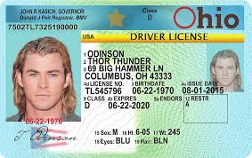 Drivers oh Ohio Fake Scannable - Id License
