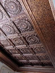 decorative ceiling tiles. Design VC 01 And Backsplash WC 40 Antique Copper Decorative Ceiling Tiles