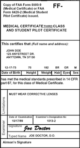 Faa Medical Eye Exam Chart Do I Need A Medical Exam To Be A Pilot Student Pilot News