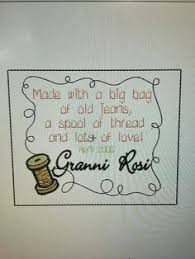 I wrote this poem to go on the quilts I make for giving. If you ... & Custom quilt label machine embroidery by by FabricWoodPaper Adamdwight.com