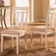 baxton studio roseberry beige fabric and distressed wood dining chairs set of 2