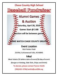 Hs Baseball Alumni Game Fundraiser Auction Chase County
