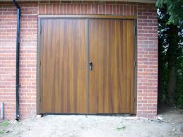 side hinged garage doors images