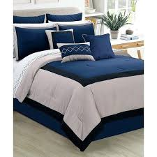 navy blue bedding inc navy blue palazzo seven piece comforter set navy blue and white bedding