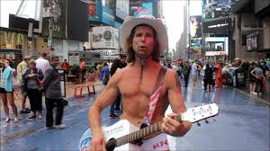 Naked Cowboy sings Happy Birthday at Times Square YouTube