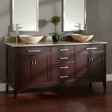 madison double vessel sink vanity  light espresso  bathroom