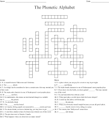 Write the following words in phonetic transcription, according to your pronunciation. The Phonetic Alphabet Crossword Wordmint
