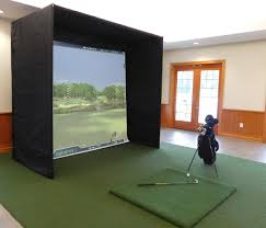high quality skytrak p3proswing or optishot indoor home golf simulator