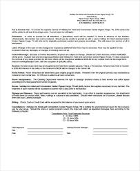 Example Of Catering Contract 13 Catering Contract Templates Apple Pages Google Docs