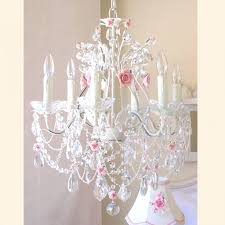 large pink crystal chandelier your 6 light crystal chandelier with pink porcelain roses here the 6 light crystal chandelier with pink porcelain roses is