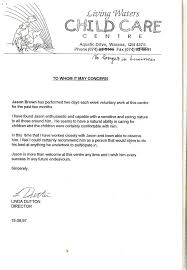 Brilliant Ideas Of Child Care Cover Letter Samples P Cover Letter