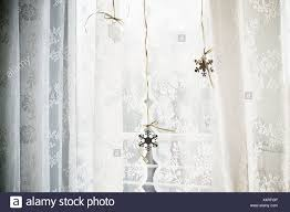 Schneeflocke Dekorationen Im Fenster Stockfoto Bild 278341638 Alamy