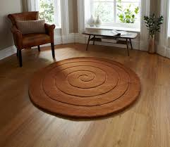 hand tufted 100 wool round spiral rug modern