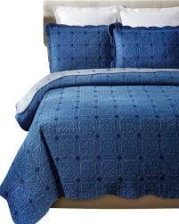 denim diamond cotton quilt set full queen contemporary quilts and quilt