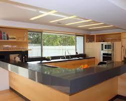 Kitchen, Kitchen Ideas Furniture Charming Modern Kitchen Design With Wooden  Unfinished L Shaped Kitchen And