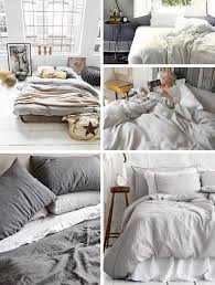home and furniture modern linen bed sheets of 4pcs washed gray natural bedding set king