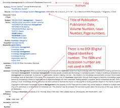 Explanation Example Apa Article Without Doi Libguides At