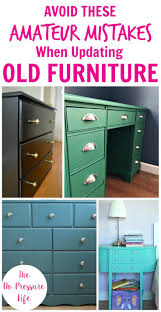 painted green furniture. Collage Featuring A Painted Green Desk, Black Dresser, Teal And Aqua Nightstand Furniture