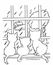 Mama cat playing with her baby cat. Coloring Pages Of Cats