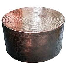 hammered aluminium side table aluminium drum coffee table in black bronze tables hammered copper remodel