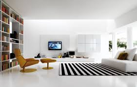 white furniture ideas. Modern-black-and-white-living-room-stripede-rug White Furniture Ideas