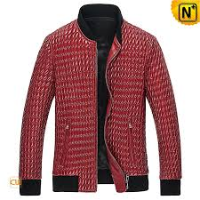 Red Quilted Leather Jacket Mens CW850010 & Quilted Leather Jacket Mens CW850010 www.cwmalls.com Adamdwight.com