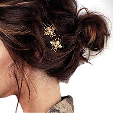 WONdere 2PCS Style Girl Exquisite Gold Bee Hairpin ... - Amazon.com