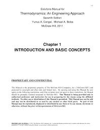 Termodinámica cengel 7ma capitulo 1
