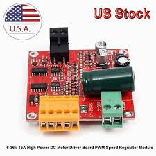 NEW 12/24/<b>36V 15A High Power</b> DC Motor Driver Board Module ...