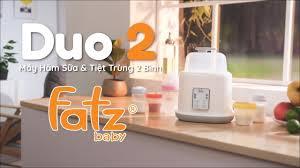 Máy hâm sữa tiệt trùng 2 bình điện tử FATZ BABY - Duo 2 | CBC Trading - NPP  đồ sơ sinh chính hãng - YouTube