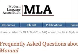 Mla Joblist Mla Style Eighth Edition Citing Sources Apa Mla