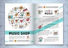 Music Brochure Music Brochure Template A24 Size Music Infographics Trendy Icons 22