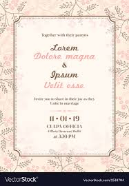 022 Template Ideas Wedding Invitation Card Vector Format