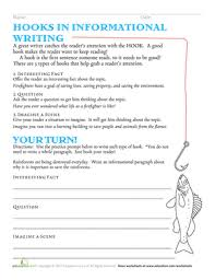 essay writing worksheets printables com hooks in informational writing