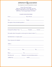 Donation Form Example Menu Planner Template Printable Formal