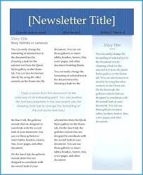 Cover Page Design For Newsletter Corporate Magazine Template