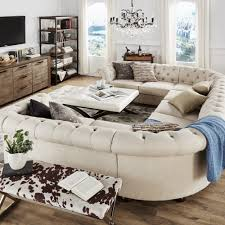 Knightsbridge Tufted Scroll Arm Chesterfield 9-seat U-shaped Sectional by  iNSPIRE Q Artisan by iNSPIRE Q