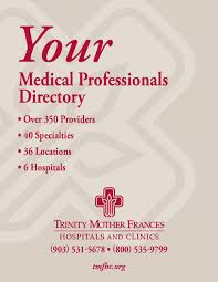 Trinity Mother Frances Medical Professionals Directory By