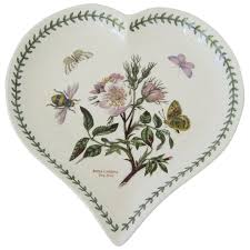 portmeirion botanic garden heart shaped dish antiques on ascot ruby lane