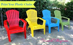 Paint Your Plastic Chairs Outdoor Furniture Pinterest Painting Delectable Spray Painting Patio Furniture Remodelling