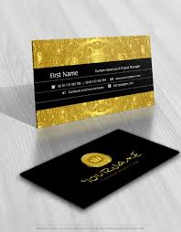 Exclusive Design Gold Coin Logo Compatible Free Business Card