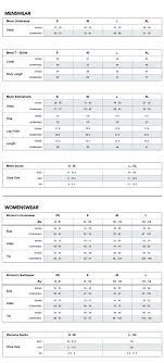 Mosmann Australia Size Chart